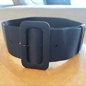 Giambattista Valli Silk Navy Buckle Belt